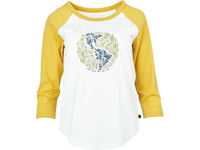 United By Blue Rooted in Nature 3/4 Baseball Tee Women white